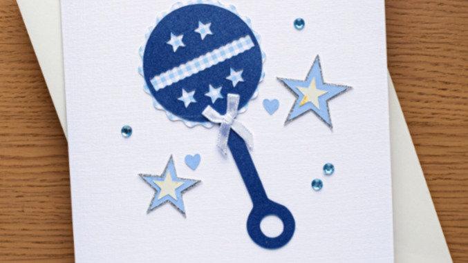New baby boy card (A23)