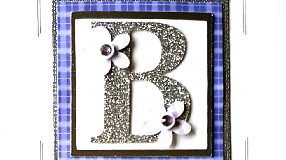 His n Hers Initial B female tartan personalised birthday