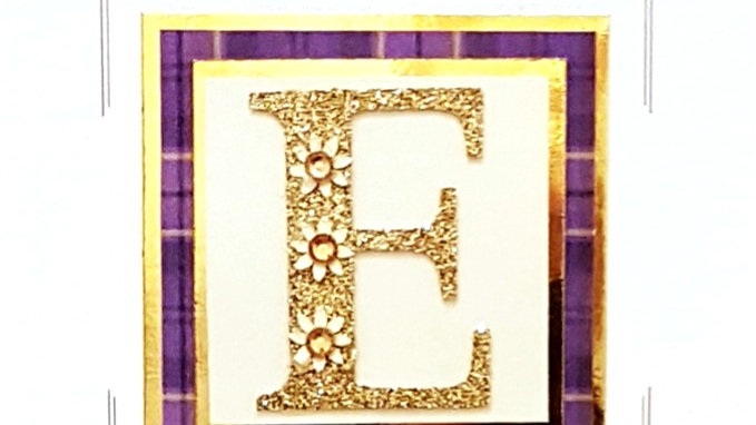 His n Hers Initial E tartan female personalised birthday