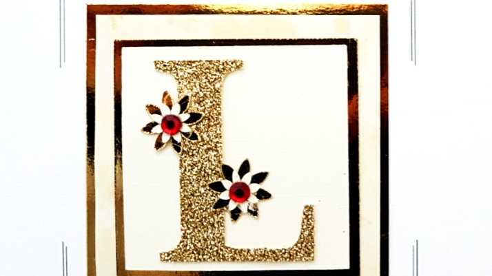 His n Hers Initial L female personalised birthday card