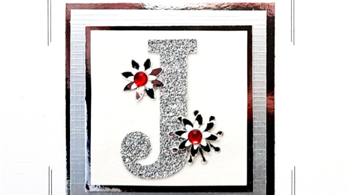 His n Hers Initial J female personalised birthday card