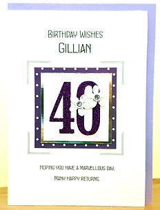 personalised age 40 female birthday card for ladies/women