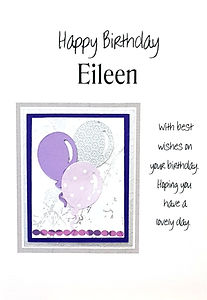 personalised birthday card for women