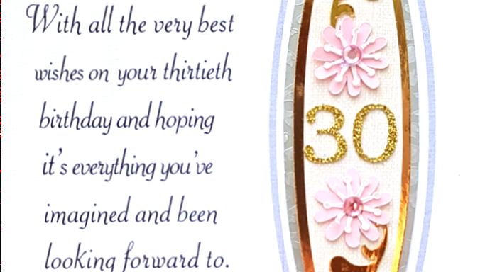 B103 - 30th female birthday