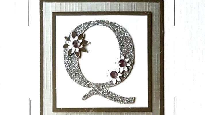 His n Hers Initial Q male personalised birthday card