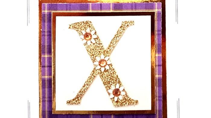 His n Hers Initial X female personalised tartan birthday