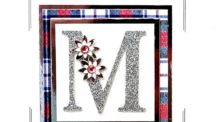 His n Hers Initial M female personalised tartan birthday
