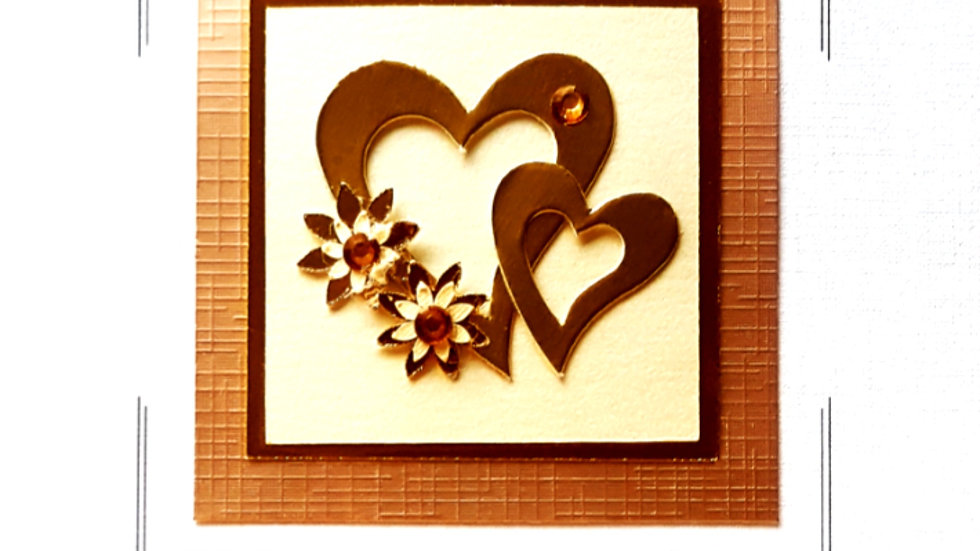 LC20 wedding day ( 2 gold hearts and flowers )