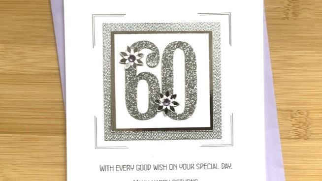 LC6  60th female birthday card