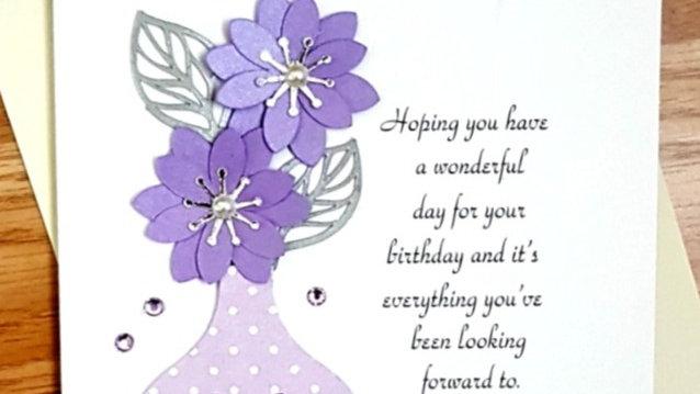 A28 - Female birthday card