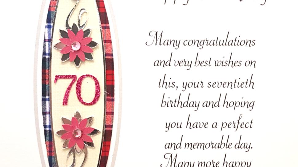 BS258 70th female birthday