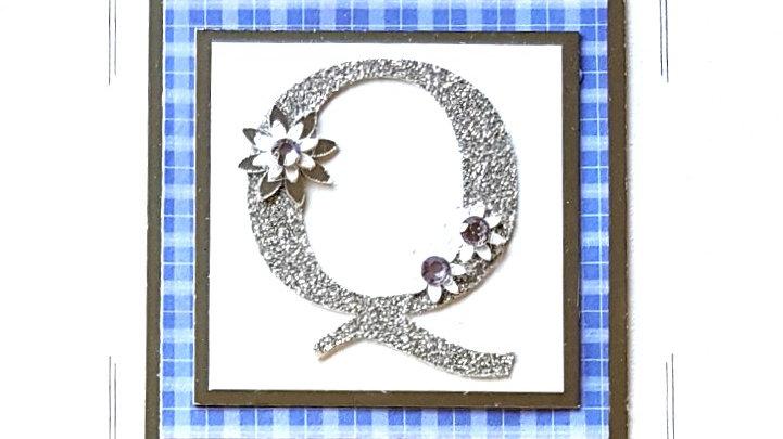 His n Hers Initial Q female tartan personalised birthday
