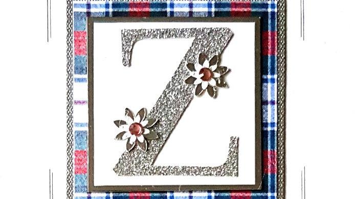 His n Hers Initial Z female tartan personalised birthday