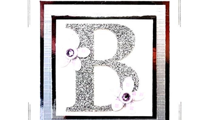 His n Hers Initial B female personalised birthday card