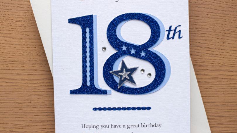 male 18th birthday (A6)