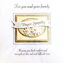 Sympathy card for family