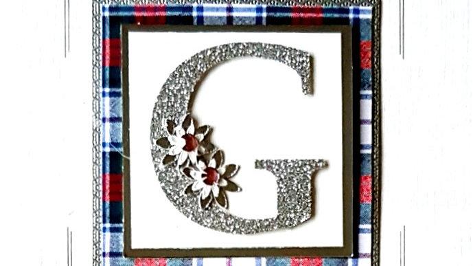 His n Hers Initial G female personalised tartan birthday