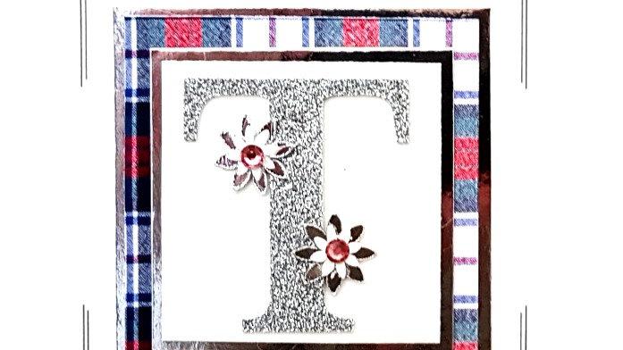 His n Hers Initial T female personalised tartan birthday