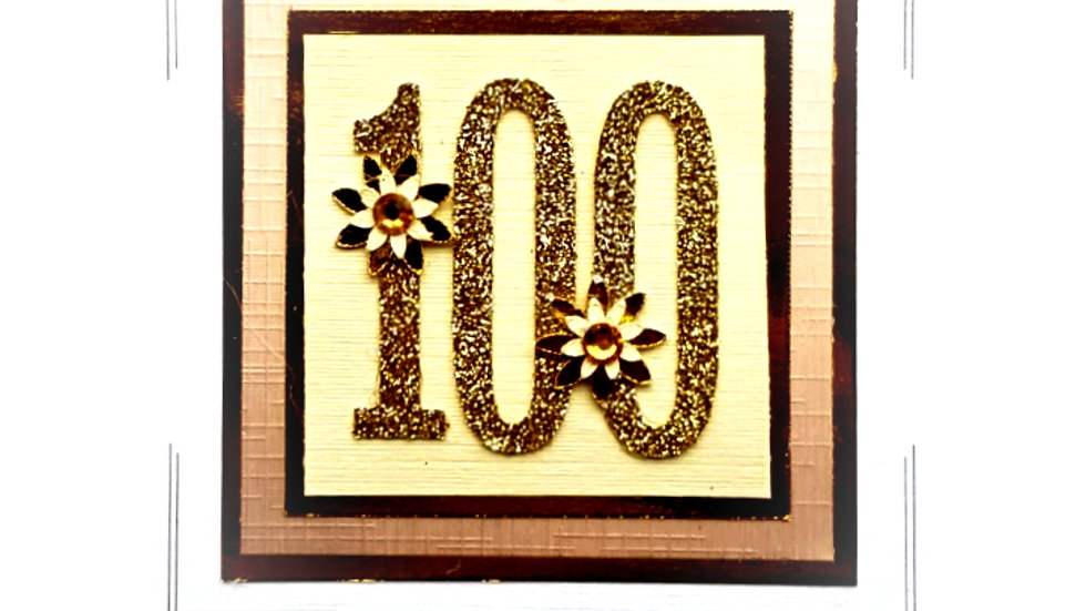 LC11 - 100th female birthday card