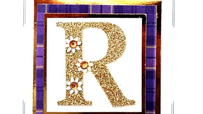 His n Hers Initial R female personalised tartan birthday