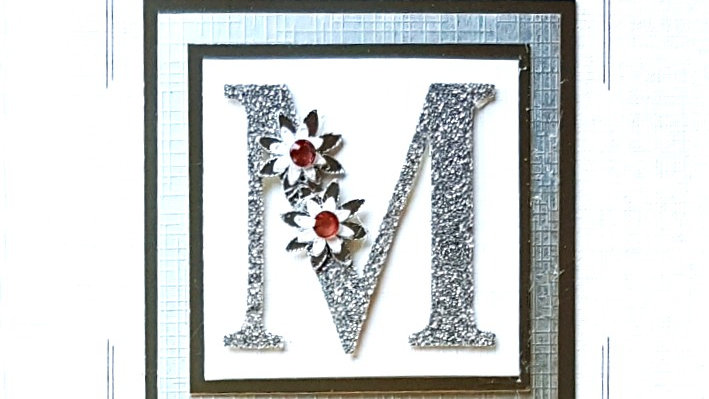 His n Hers Initial M female tartan personalised birthday