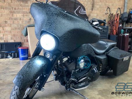 Shadow Black Harley Davidson Wrap