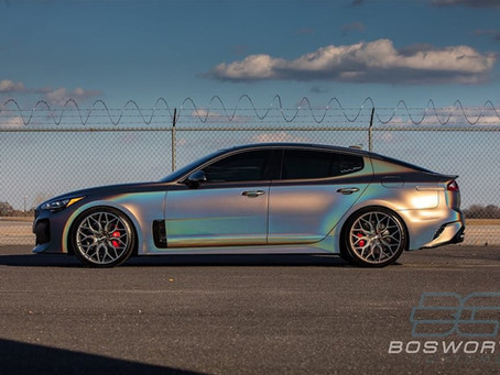 Kia Stinger GT1 Satin Flip Psychedelic vehicle wrap & more..