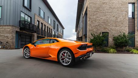 Lamborghini Huracan Gloss Burnt Orange Wrap