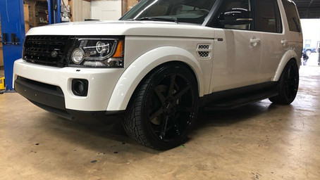 Land Rover in for a few modifications