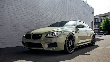 BMW M6GC Gloss Olive Green Wrap