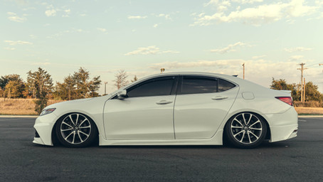 Bagged Acura TLX on Air Lift Performance