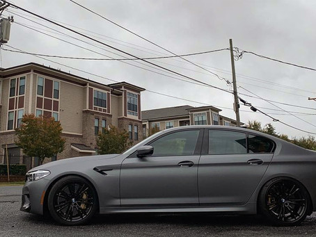 BMW M5 Matte Metallic Gunmetal Car Wrap