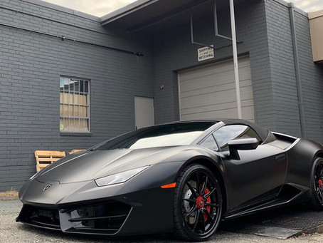 Lamborghini Huracan Satin Black Car Wrap