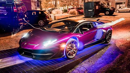 Purple Chrome Aventador SVJ