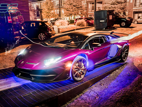 Purple Chrome Aventador SVJ
