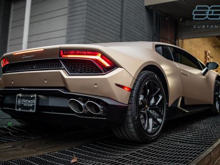 Lamborghini Huracan in 'Matte Phantom Gold'