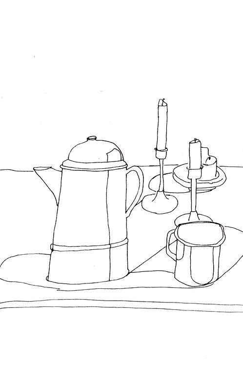 Cafetiere et Tasses