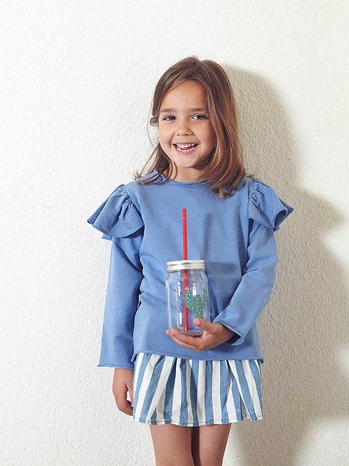 Sudadera niña Eli azul