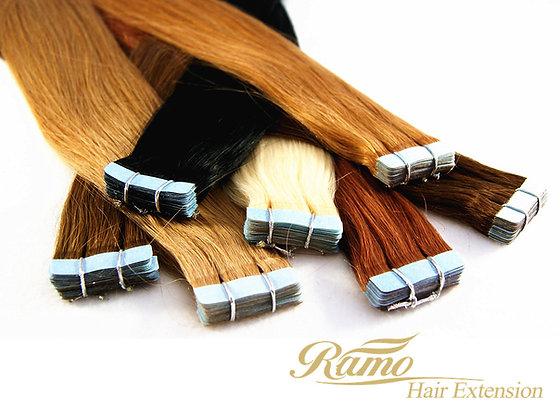 Tape in / on Extension 30cm-60cm REMY Echthaar Qualität