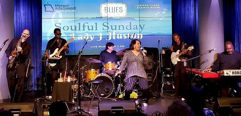 The Lady J Huston Show at the National Blues Museum, St. Louis, MO