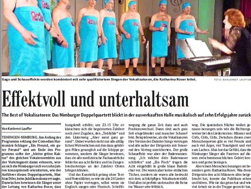 Jubiläumskonzert 10 Jahre Vokalisatoren - Effektvoll und unterhaltsam