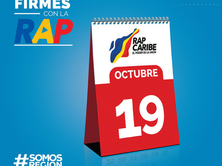 19 de octubre: ¡FIRMA oficial de la RAP Caribe!