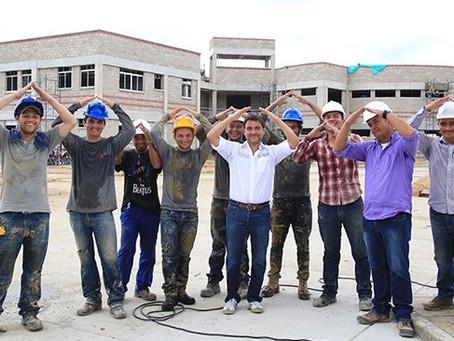 Avanzan obras del megacolegio en villas de San Pablo