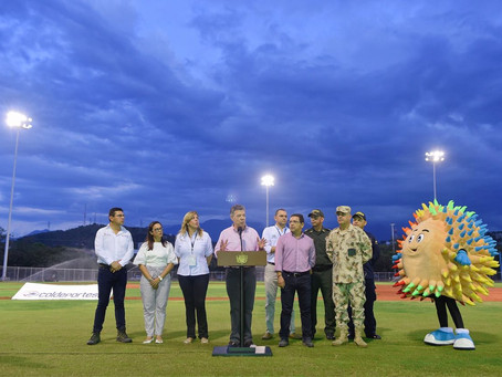 Santos inspeccionó obras de los Juegos Bolivarianos en Santa Marta