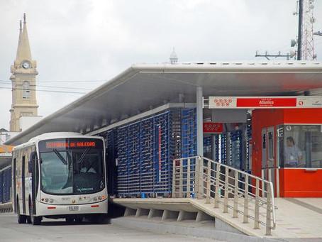 Conozca los desvíos de rutas de Transmetro por obras de arroyo La Felicidad