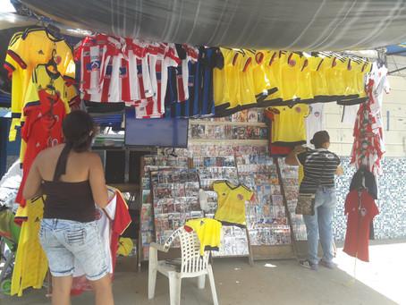 Optimismo de comerciantes por partido de Colombia vs Brasil en Barranquilla