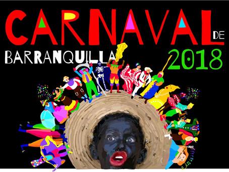20 obras finalistas para el afiche oficial del Carnaval de Barranquilla 2018