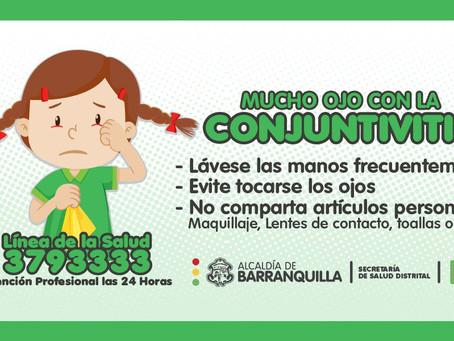 Virus de la conjuntivitis en Barranquilla, evite automedicarse