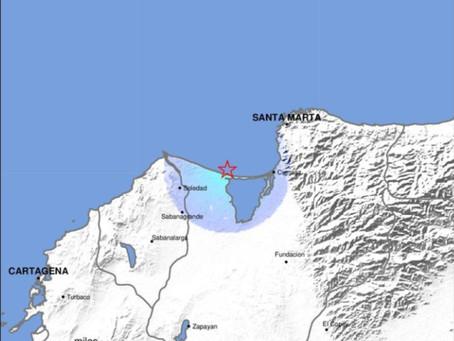Temblor de 3.7 se sintió en el Atlántico y Magdalena