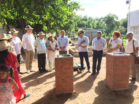 Embajada alemana en Colombia entrega planta de agua a indígenas en Manaure